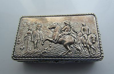 Antique BERTHOLD MULLER German Hanau Silver Snuff / Trinket Box.CHESTER 1905.