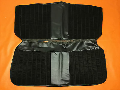 1973-81 GMC Chevy Truck Front bench Seat Covers Black Vinyl & Cloth Upholstery