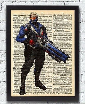 Overwatch Soldier 76 Game Poster Print T161 A4 A3 A2 A1 A0|