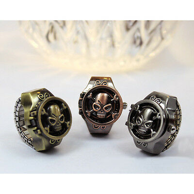 Fashion Vintage Women Creativity Skull Finger Ring Quartz Watchs Antique Gift