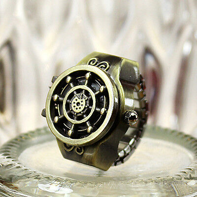 New Fashion Character Vintage Men Finger Ring Quartz Watchs Antique Gift