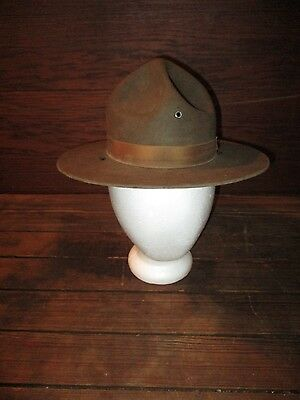 WW1 Era Campiagn Hat Stratton Size 6 5/8