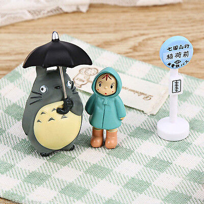 Totoro Figurine Japanese Collection Kids Cartoon Toys Garden Supplies