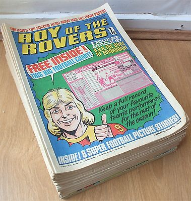 ROY OF THE ROVERS COLLECTION FROM 1st ISSUE 1 25th SEP 1976 - MAR 79