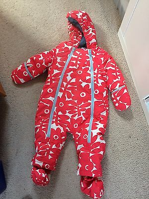 Baby Boden Girls Snowsuit, Size 6 - 12 Months