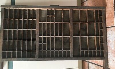 PRINTERS TYPE CASE Or DRAWER Large With Very Old HAMILTON Handle Shadow Box