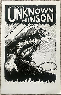 Unknown Hinson Poster, limited out of print 11x17, Squidbillies Early Cuyler