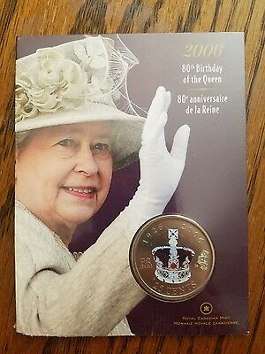 80th Birthday of the Queen 2006 Canadian 25 cent coin SEALED!!