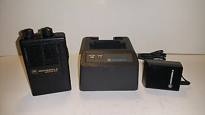 """Motorola Minitor II SV Pager w/2 CH VHF 151MHz """"Stored Voice"""" w/Charger & Batt!"""