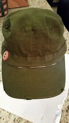 JAMESON IRISH WHISKEY HAT with Worn Distress Look NEW - Military Style- WHISKY