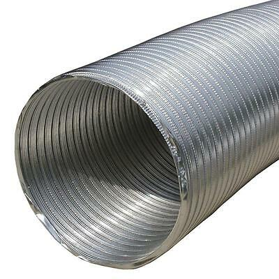 Speedi Products 4 x 60 Inch Round Tubing Duct Pipe Silver Aluminum Flexible Hose