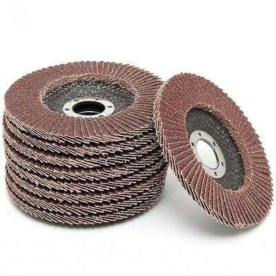 "9 Pack 4 1/2"" of 80 Grit Flapper Flap Sanding Discs Sander for Angle Grinder"