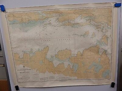 Clapperton Island - Meldrum Bay VINTAGE MAP 1st Ed Canadian Hydrographic Service