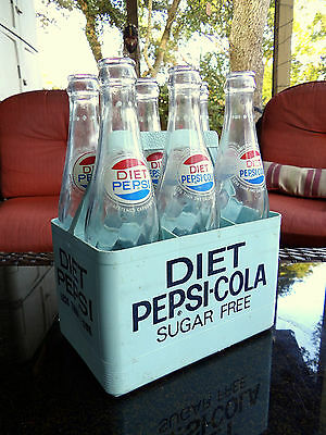 Super Rare Vintage Pepsi Cola Plastic 6 Bottle Carrier Baby Blue
