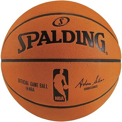 Spalding Official NBA Game Ball | Size 7 | Pure Leather Game Ball