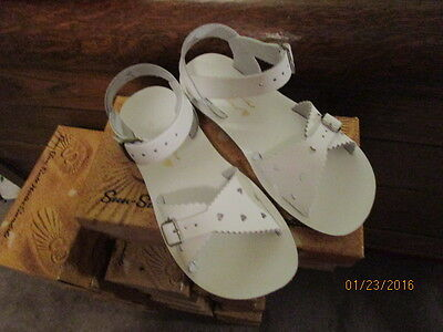 Sun San Sandals Size 5T - 3 Youth White Sweethearts Saltwater Boutique