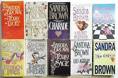 10 books by SANDRA BROWN Lot #G908 Free US S/H PB  ROMANCE MYSTERY