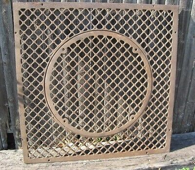 "Large 29"" Vintage Cast Iron Architectural Floor Register Heating Grate ~Table! ~"