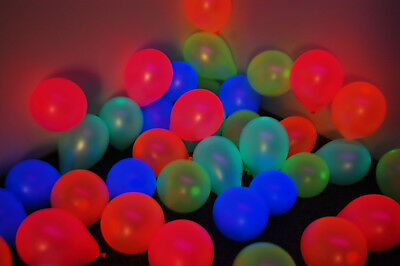 Assorted 5 inch UV Blacklight Reactive Latex Decorator Balloons