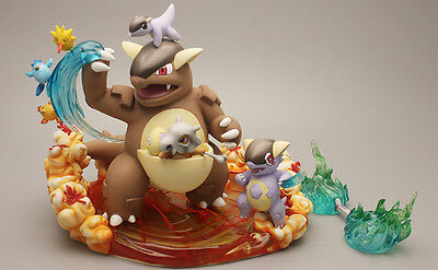 Pokemon Go Pocket Monster Kangaskhan Cubone Resin Figure Preoder