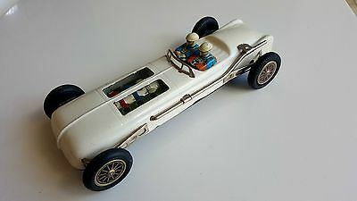 Vintage Friction Car Japan Tin Toy Motor Double Drivers Runs And Works