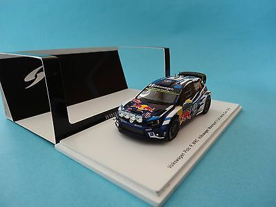 Vw Polo Wrc #9 - A.mikkelsen - 2º Rally Monte Carlo 2016 - 1/43 New Spark S4961