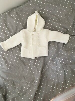 Fenwicks White Baby Knitted Cardigan 1 Month