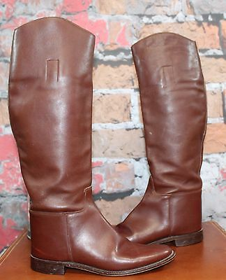 Vintage Marlborough Riding Boots Equestrian Brown Leather Women's 8.5 UK 10 US
