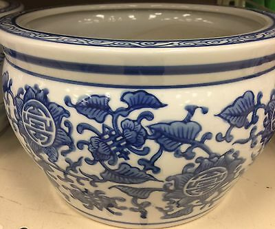 "8"" Chinese Porcelin Montif Planter Flower Pot NEW"