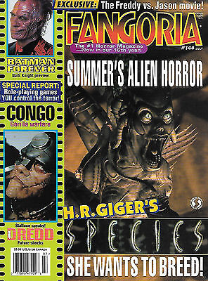 Fangoria #144 (1995, 84 pages, full colour) good as new