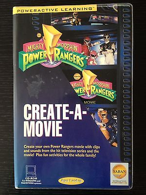 Mighty Morphin Power Rangers Create A Movie PC Mac CD-Rom Computer Video Game