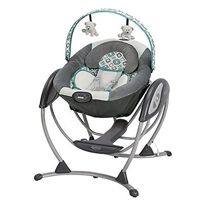 Nursery Gliding Baby Swing Soothes Melodies Vibration Adjustable Infant Room
