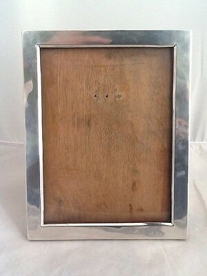"""Large Antique Silver Photo Picture Frame With Oak Back 9 1/4"""" X 7 1/4""""-Birm 1906"""