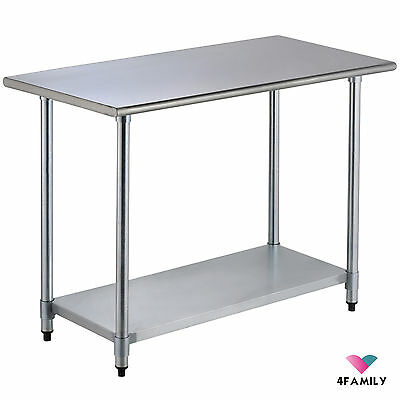 """24"""" x 48"""" Commercial Stainless Steel Work Food Prep Table Kitchen Restaurant"""