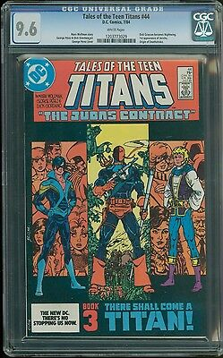 Tales of Teen Titans # 44 CGC 9.6 White (DC, 1984) 1st appearance of Nightwing