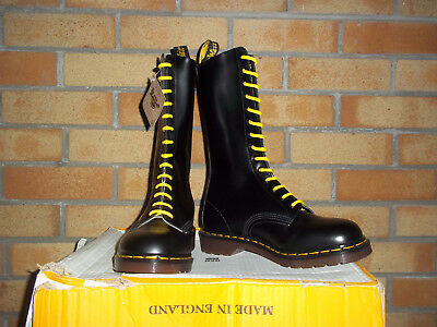 Dr Martens Vintage 1914 Black Smooth Boots Made In England Mod Ska Vespa