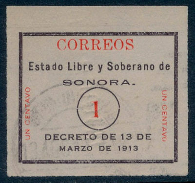 vu38 Mexico #322 1ctv Sonora White Used Lt Cnl Sc $25 VF