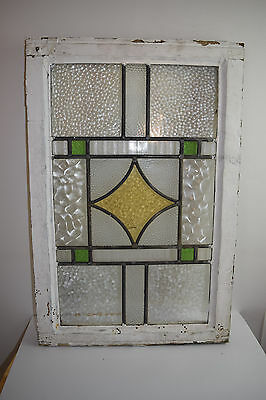 Salvage Stained Glass Window with Leaded Frame for Reclaim