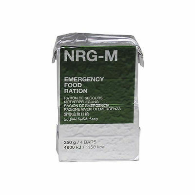 NRG-M Emergency Food Ration Biscuits British French NATO Army Outdoor Survival