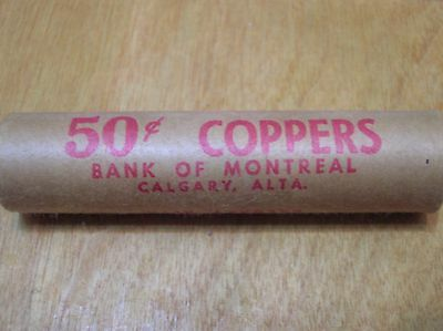 Full Original Bank Roll 1967 Canadian Cents!