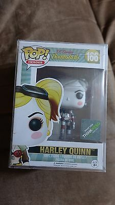 Funko Pop! Harley Quinn #166 ThinkGeek Exclusive DC Bombshells With Protector