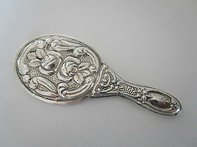 Continental Silver Ladies Travelling Hand Mirror..900 Standard..