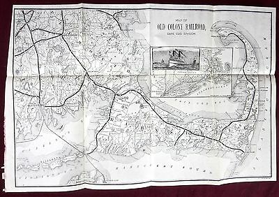 1888 map of cape cod - old colony railroad - provincetown chatham truro falmouth