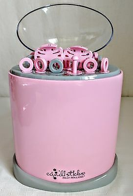 CONAIR Pink Jelly Rollers Hot Curlers 16 Soft Rods Spiral Sticks Pageant JR2T