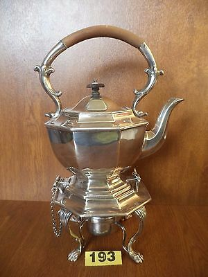 Victorian / Edwardian Silver Plated Locking Spirit Kettle & Burner