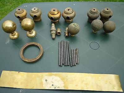 Brass & Iron Bed Fittings - Selection of different bits and pieces