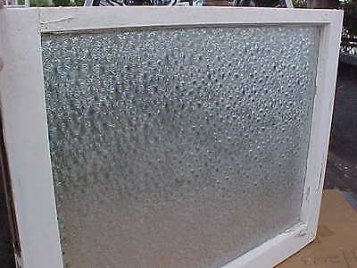 Antique Vintage Window Sash Privacy Glass Architectural Salvage 30x24