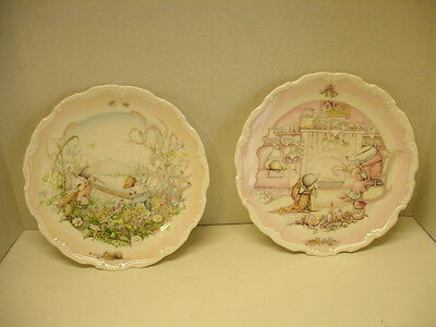 """Set of 2 Vintage (84) Royal Doulton Plates """"The Wind in the Willows"""" England"""