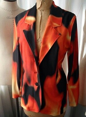 TODD OLDHAM Flame Print Knit Suit M 1990s