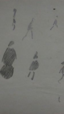 L S Lowry Pencil Drawing Signed Lsl 57